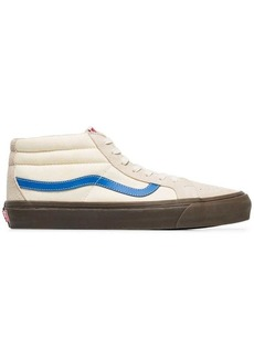 Vans white and cream vault suede skater shoes