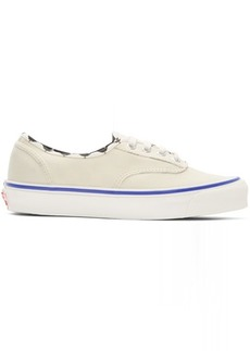 Vans White Inside Out Checkerboard OG Authentic LX Sneakers