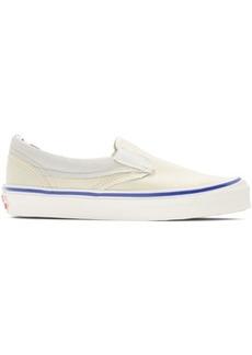 Vans White Inside/Out OG Classic Slip-On Sneakers
