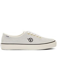 Vans White LQQK Studio Edition Authentic One Pie Sneakers