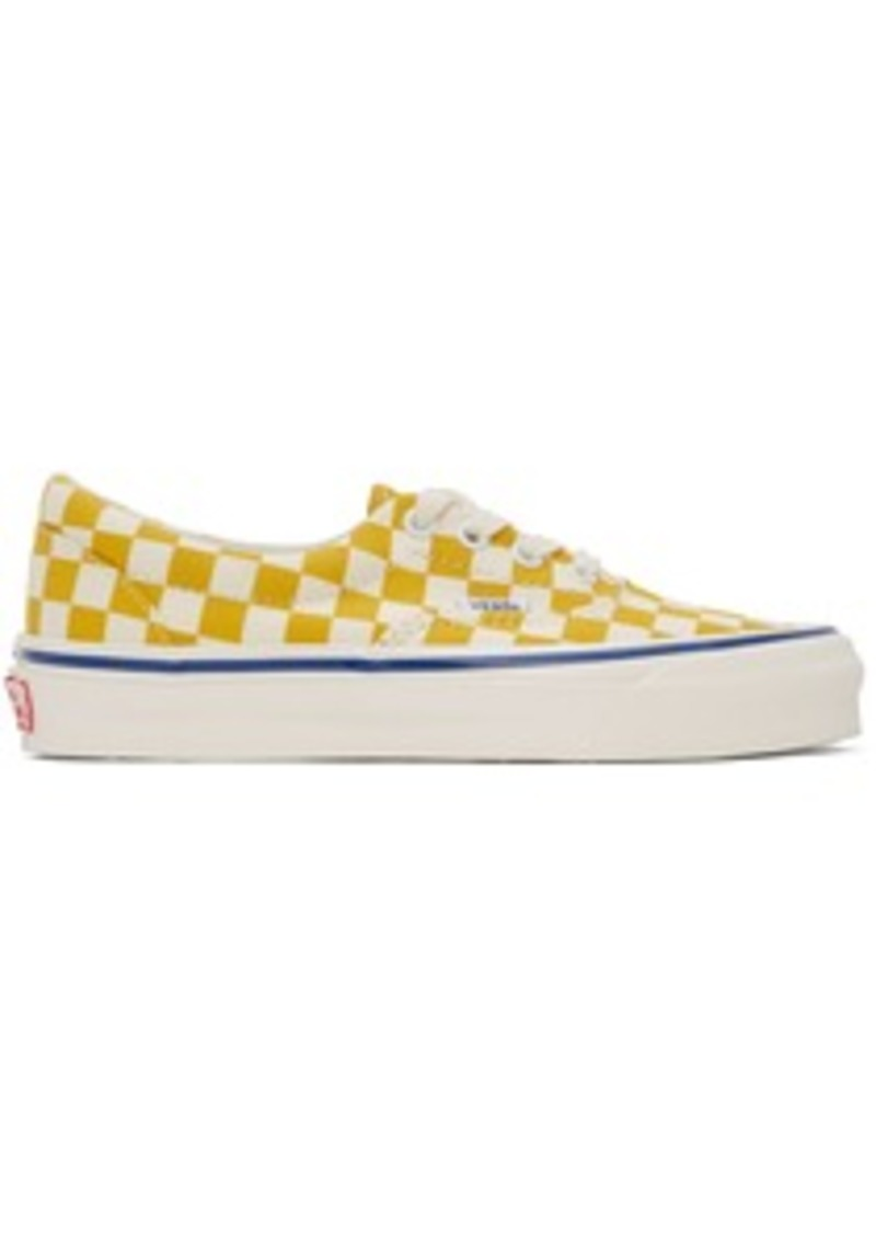 Vans Yellow & White Checkerboard Authentic Sneakers