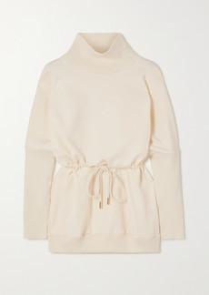Varley Adelaine Stretch-cotton Jersey Turtleneck Sweatshirt