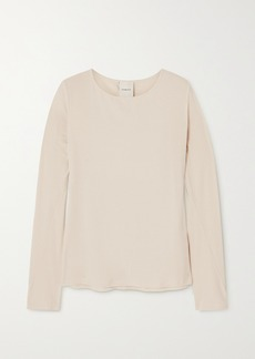 Varley Astoria Ribbed Tencel Lyocell And Linen-blend Top