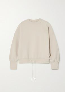 Varley Edith Stretch-cotton Pique Sweatshirt