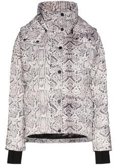 Varley Highland snake print puffer jacket