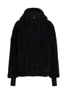 Varley Montalvo 2.0 Teddy Hooded Bomber Coat