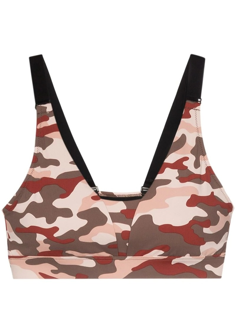 camouflage-print sports bra