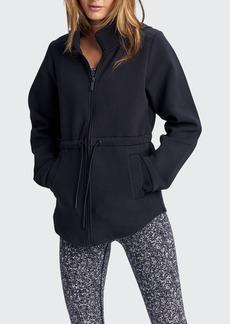 Varley Dahlia Cinched-Waist Hooded Jacket