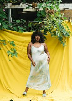 Veda Frankie Silk Dress Indigo Stain