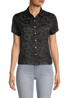 Veda Honolulu Floral Silk Button-Down Shirt