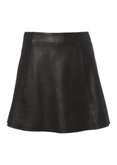 Veda Circle Leather Mini Skirt