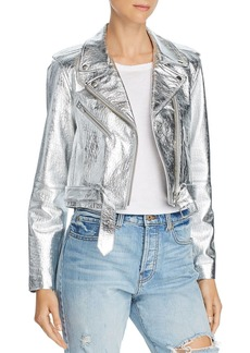 Veda Baby Jane Metallic Leather Moto Jacket - 100% Exclusive