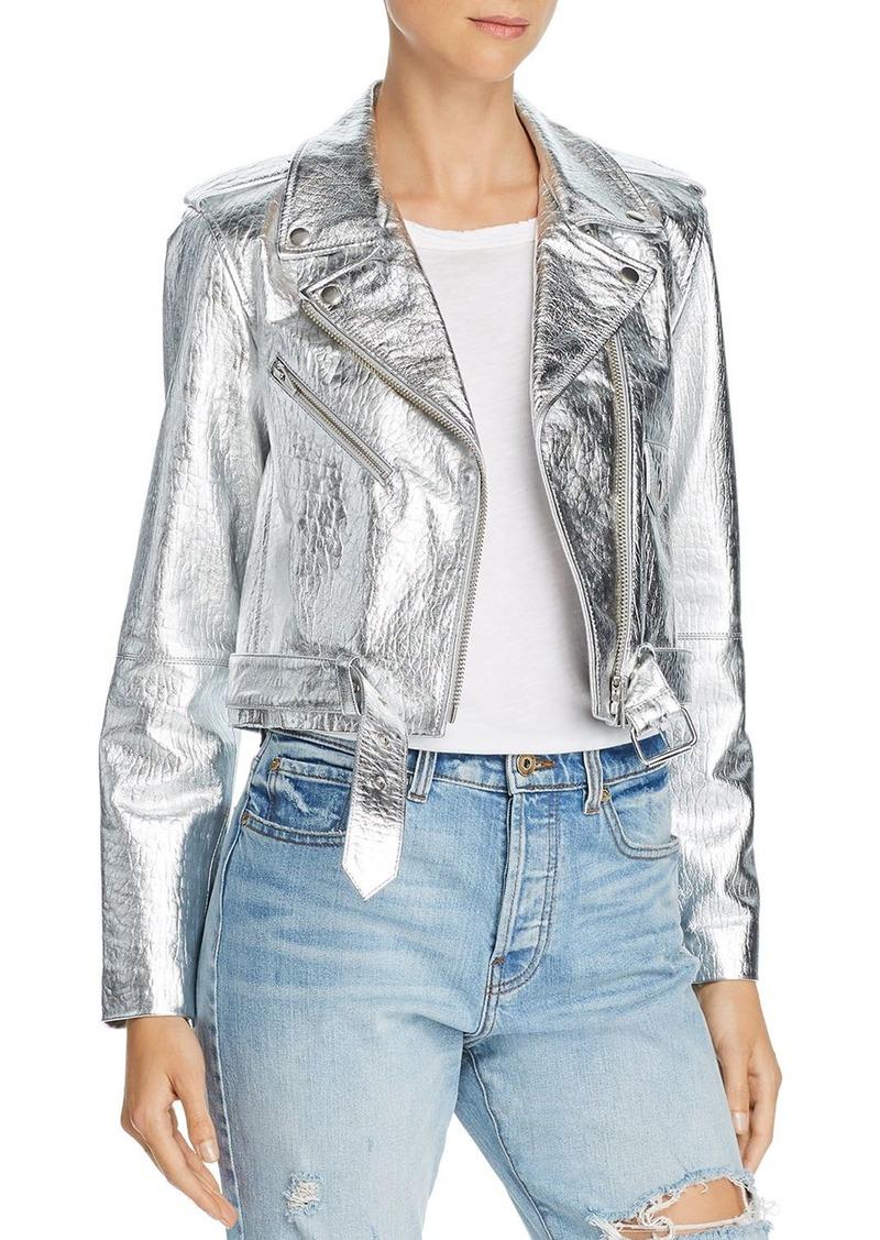 3a49b6bfa Baby Jane Metallic Leather Moto Jacket - 100% Exclusive