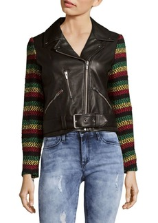 Veda Lion Leather Jacket