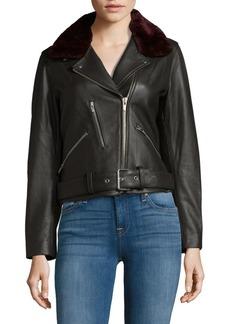 Veda National Fur Leather Motor Jacket