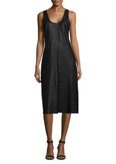 Veda Ring Leather Knee-Length Dress