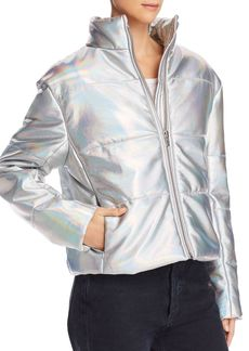 Veda Sharpe Hologram Puffer Jacket