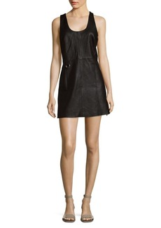 Veda Tempo Solid Leather A-Line Dress