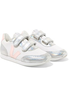 VEJA Size 28 - 35 Arcade Mesh And Iridescent Leather Sneakers