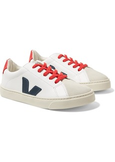 VEJA Size 32 - 35 Esplar Leather And Suede Sneakers