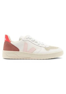 Veja V-10 leather and suede trainers
