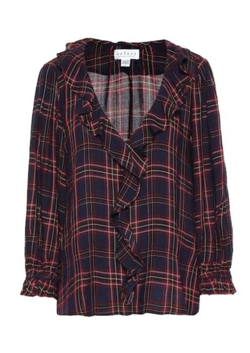 Velvet by Graham & Spencer Addison checked blouse