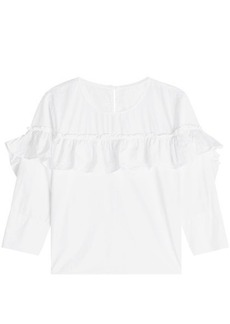 Velvet by Graham & Spencer Aluna Ruffled Cotton Shirt