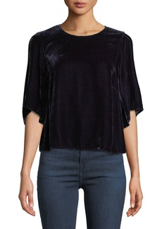 Velvet by Graham & Spencer Andi Velvet Crewneck Top