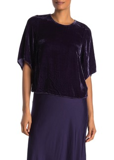 Velvet by Graham & Spencer Andi Velvet Elbow Sleeve Top