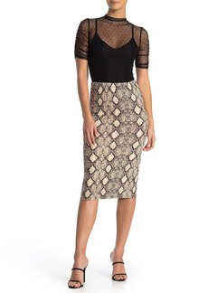 Velvet by Graham & Spencer Animal Print Midi Skirt