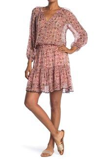 Velvet by Graham & Spencer Aubrey Printed Crepe Dress