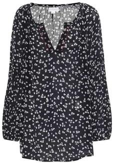 Velvet by Graham & Spencer Bessy printed peasant blouse