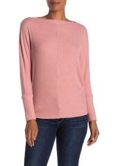 Velvet by Graham & Spencer Borsala Cozy Boatneck Rib Knit Top