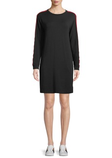 Velvet by Graham & Spencer Breck Crewneck Side-Stripe Shirt Dress