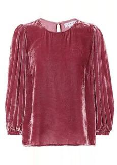 Velvet by Graham & Spencer Brenda velvet blouse