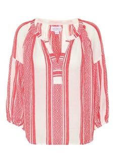 Velvet by Graham & Spencer Britt striped cotton top