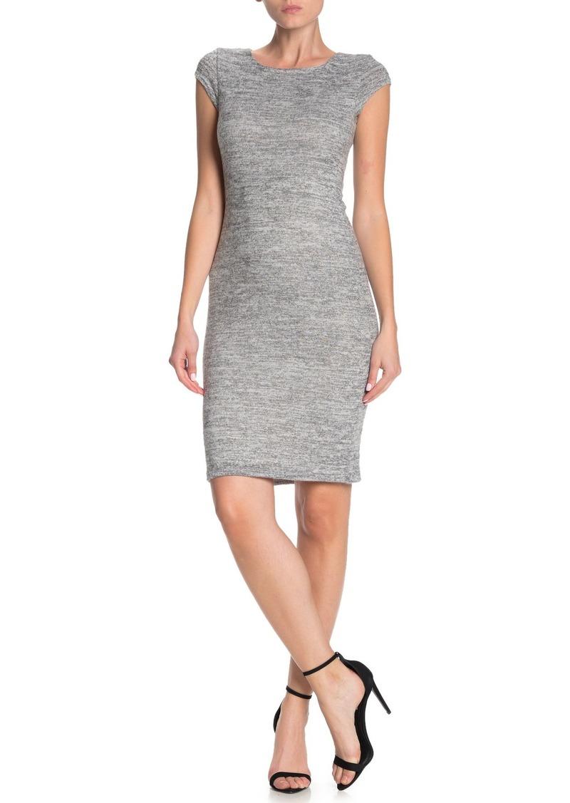 Velvet by Graham & Spencer Brushed Cap Sleeve Bodycon Dress