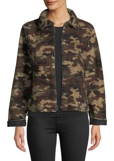 Velvet by Graham & Spencer Camo Sherpa Zip-Front Jacket