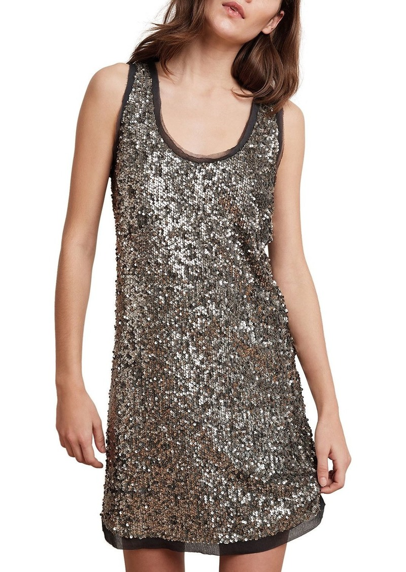 Velvet by Graham & Spencer Carmela Sequined Sleeveless Shift Dress