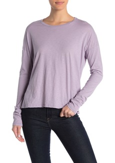 Velvet by Graham & Spencer Colene Solid Dolman Sleeve Slub T-Shirt