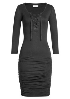 Velvet by Graham & Spencer Cotton Dress with Lace-Up Front