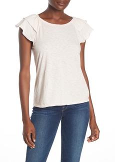 Velvet by Graham & Spencer Ruffle Sleeve Slub T-Shirt