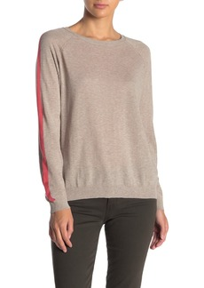 Velvet by Graham & Spencer Cotton Stripe Sleeve Sweater