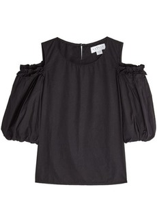 Velvet by Graham & Spencer Cotton Top with Cold Shoulders