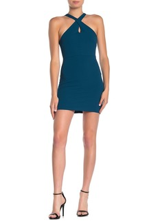 Velvet by Graham & Spencer Cross Front Halter Mini Dress