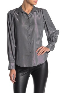 Velvet by Graham & Spencer Dakota Metallic Button Down Shirt
