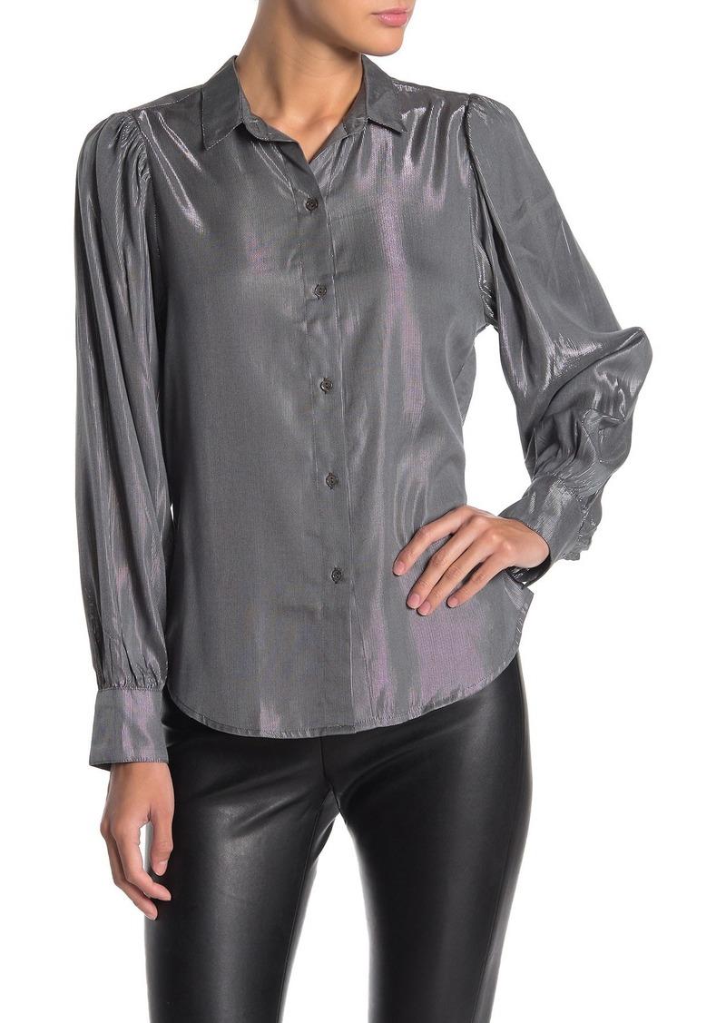Velvet by Graham & Spencer Dakota Metallic Button Down Shirt