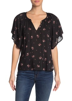Velvet by Graham & Spencer Delmis Floral Print Challis Drape Top