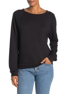 Velvet by Graham & Spencer Double Fold Stripe Long Sleeve T-Shirt