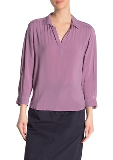 Velvet by Graham & Spencer Eliza Split Neck Blouse